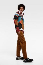 GEOMETRIC JACQUARD SWEATER at Zara