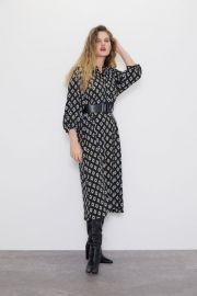 GEOMETRIC PRINT DRESS at Zara