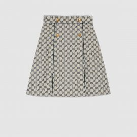 GG canvas A-line skirt by Gucci at Gucci