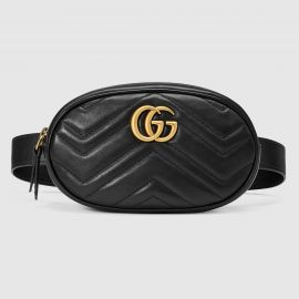 GG Marmont Matelasse Leather Belt Bag at Gucci