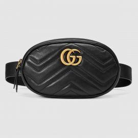 GG Marmont matelassé leather belt bag at Gucci