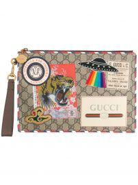 GG Supreme Applique Pouch by Gucci at Farfetch