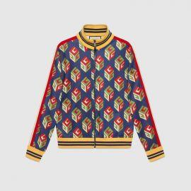 GG Wallpaper technical jersey jacket at Gucci