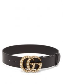 GG faux Pearl-Embellished Leather Belt by Gucci at Matches