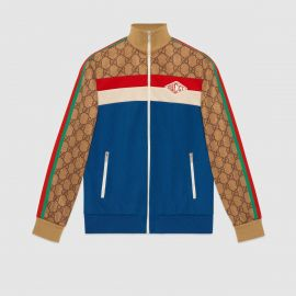 GG technical jersey jacket at Gucci