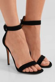GIANVITO ROSSI Portofino suede sandals at Net A Porter