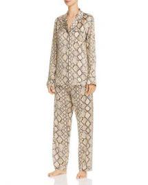 GINIA Python Print Long Silk Pajama Set Women - Bloomingdale s at Bloomingdales
