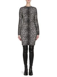 GIVENCHY - KNIT LEOPARD JACQUARD SHEATH DRESS at Saks Fifth Avenue