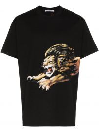 GIVENCHY LION PRINT T-SHIRT - BLACK at Farfetch