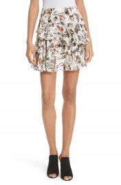 GREY Jason Wu Painterly Floral Print Skirt at Nordstrom