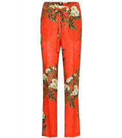 GUCCI Printed jacquard trousers at Mytheresa