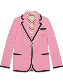 GUCCI STRETCH VISCOSE JACKET - PINK at Farfetch