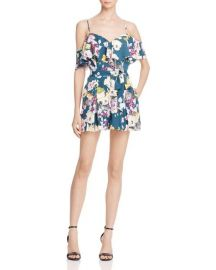GUESS Paige Ruffle Romper  at Bloomingdales