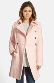 GUESS Double Breasted Boucl   Cutaway Coat  Regular   Petite at Nordstrom