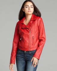 GUESS Jacket - Carly Faux Leather Moto at Bloomingdales