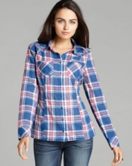 GUESS Shirt - Classic Plaid at Bloomingdales