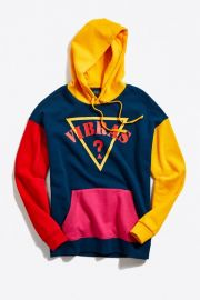 GUESS X J Balvin Vibras Colorblock Hoodie Sweatshirt at Urban Outfitters