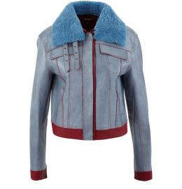 Gabbie leather jacket at 24s