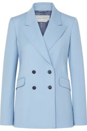 Gabriela Hearst - Angela double-breasted wool-blend blazer at Net A Porter