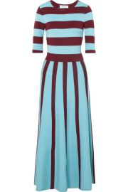 Gabriela Hearst   Capote striped wool-blend midi dress at Net A Porter
