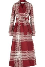 Gabriela Hearst - Checked wool-blend trench coat at Net A Porter