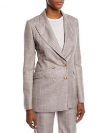Gabriela Hearst Angel Double-Breasted Cashmere Plaid Suiting Blazer at Neiman Marcus