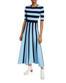 Gabriela Hearst Capote Striped Wool-Cashmere Dress at Neiman Marcus