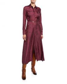 Gabriela Hearst Polka Dot Silk Twill Shirtdress at Neiman Marcus