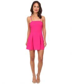 Gabriella Rocha Crepe Slip Fit andamp Flare Dress Hot Pink at Zappos