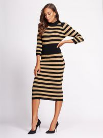 Gabrielle Union Collection - Stripe Sweater Dress at NY&C
