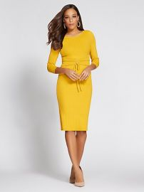 Gabrielle Union Collection Corset Sweater Dress by New York and Company at NY&C
