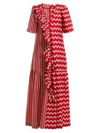 Gabrielle zigzag-print maxi dress at Matches