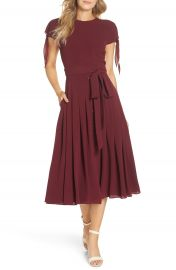 Gal Meets Glam Collection Bette Pleated Midi Dress  Nordstrom Exclusive    Nordstrom at Nordstrom