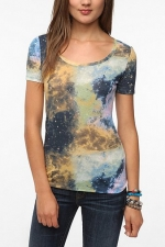 Galaxy print tee by BDG at Urban Outfitters at Urban Outfitters