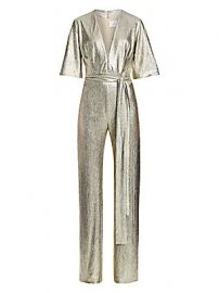 Galvan - Metallic Galaxy Jumpsuit at Saks Fifth Avenue