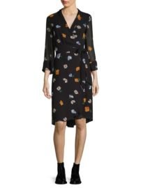 Ganni Dainty Floral Wrap Dress at Saks Fifth Avenue