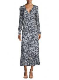 Ganni - Roseburg Crepe Wrap Dress at Saks Fifth Avenue