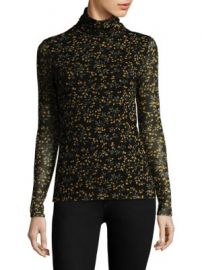 Ganni - Tilden Mesh Turtleneck Top at Saks Fifth Avenue