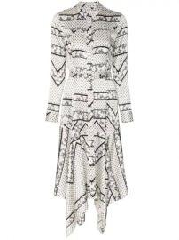 Ganni Blakely Silk Blend Shirt Dress - Farfetch at Farfetch
