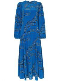 Ganni Cloverdale Printed Silk Maxi Dress - Farfetch at Farfetch
