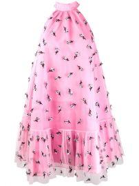 Ganni Embellished Mesh Dress - Farfetch at Farfetch