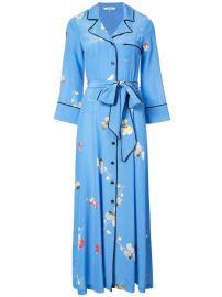 Ganni Floral Print Maxi Dress at Farfetch