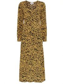 Ganni Goldstone Floral Print Crepe Dress - Farfetch at Farfetch