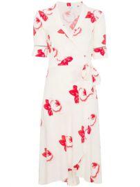 Ganni Harley Floral Print Wrap Dress  - Farfetch at Farfetch
