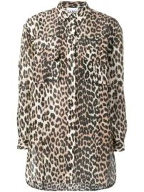 Ganni Leopard Print Shirt - Farfetch at Farfetch