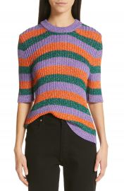 Ganni Metallic Stripe Sweater   Nordstrom at Nordstrom