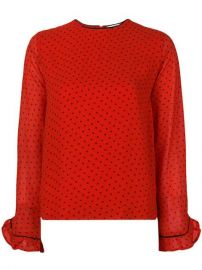 Ganni Polka Dot Blouse  - Farfetch at Farfetch