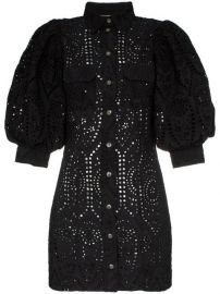 Ganni Sandrose Cotton mini-dress - Farfetch at Farfetch
