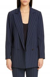 Ganni Stripe Suiting Blazer   Nordstrom at Nordstrom