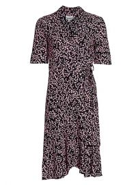 Ganni floral wrap dress at Saks Fifth Avenue